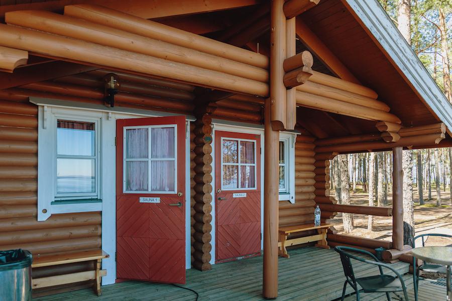 Kaunissaaren lomamökkien sauna - Vuokrataan myös erikseen